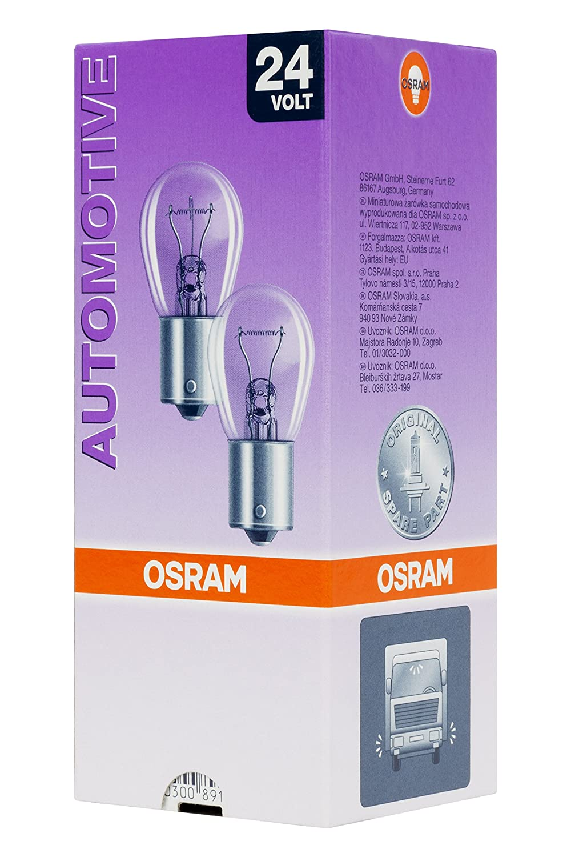 Set de 10 Osram Spain L/ámpara Original 7529 BA15s 24V 15W P21W