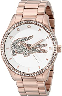 Lacoste Womens 2000828 Victoria Rose Gold-Tone Stainless Steel Watch