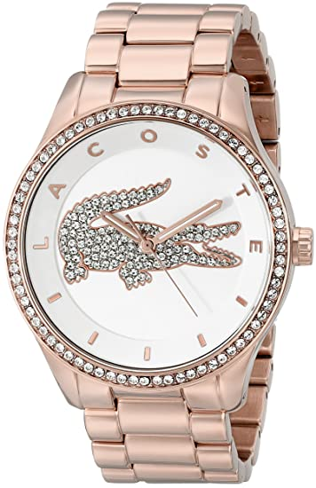 kupować Kup online sprzedaje Lacoste Women's 2000828 Victoria Rose Gold-Tone Stainless Steel Watch