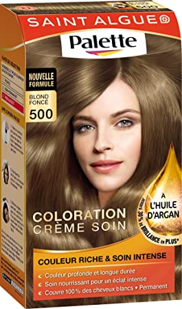 saint algue palette coloration permanente blond fonc 500 - Coloration Mousse Saint Algue