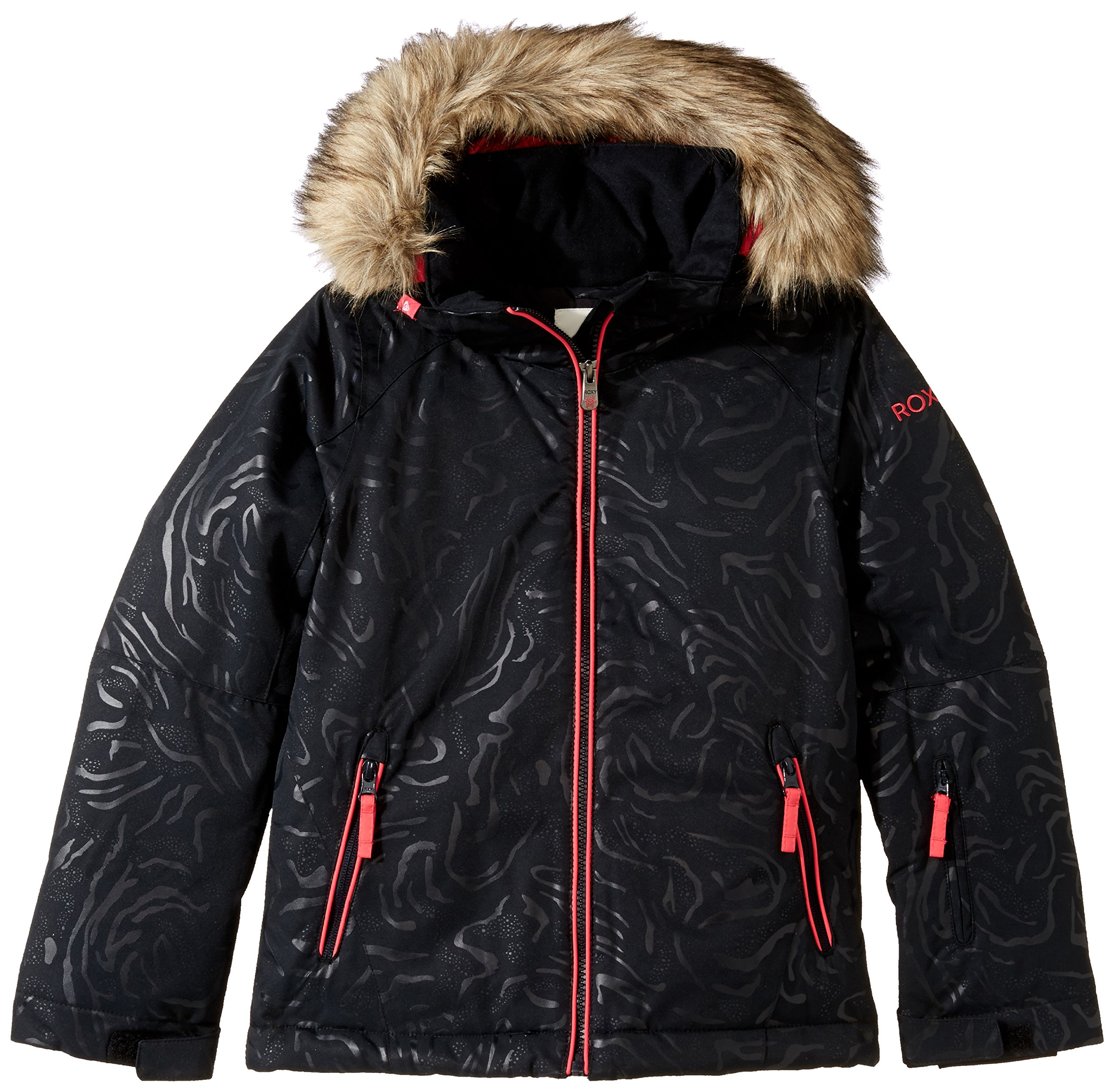 Roxy Big Girls' American Pie Solid Snow Jacket, True Black, 14/XL