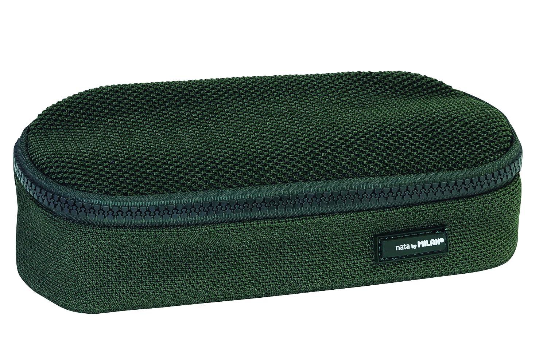 Verde 20 cm MILAN Portatodo Ovalado Mini Knit Khaki Green Estuches