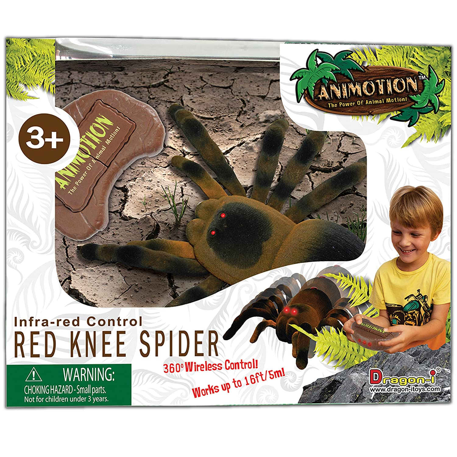 Dragon-I Infra-Red Knee Flocked Spider Toy Remote Controlled Vehicles(80055A)