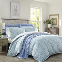 Laura Ashley   Jayne Collection   Luxury Premium Ultra Soft Duvet Coverlet, Lightweight Comfortable 3 Piece Bedding Set…