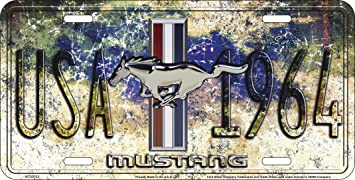 Mustang Since 1964 USA License Plate Tag City MC50153