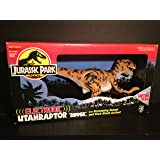 "ELECTRONIC UTAHRAPTOR ""RIPPER"" - JURASSIC PARK - 16"" long dinosaur with Capture Gear, screaming sound & kick-slash action!"