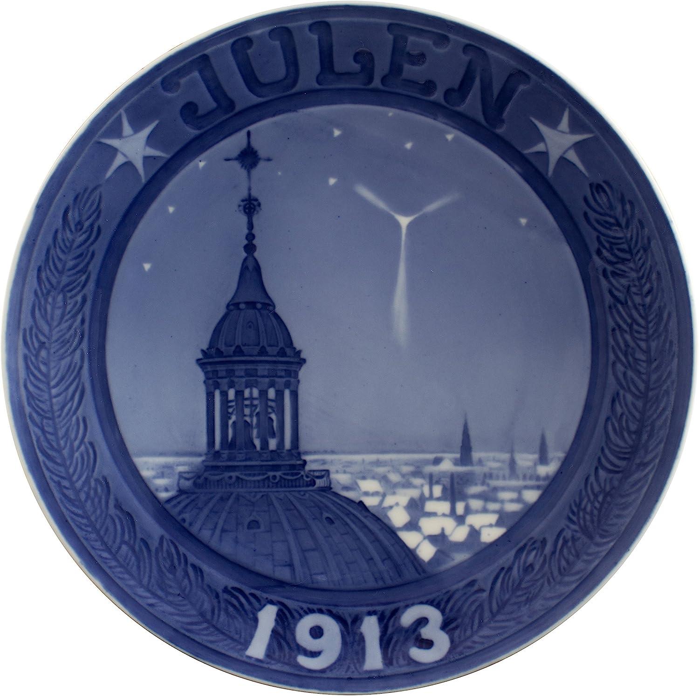 ROYAL COPENHAGEN PIATTO DI NATALE 1913 ORIGINALE PORCELLANA PRIMA SCELTA