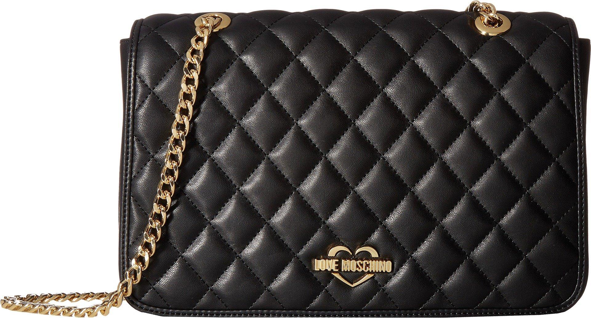 LOVE Moschino Women's Superquilting Shoulder Bag Black Handbag