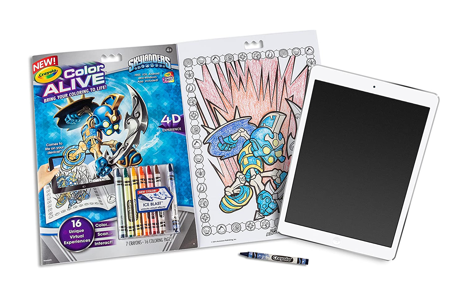 Amazon.com: Crayola Color Alive Action Coloring Pages - Skylanders ...