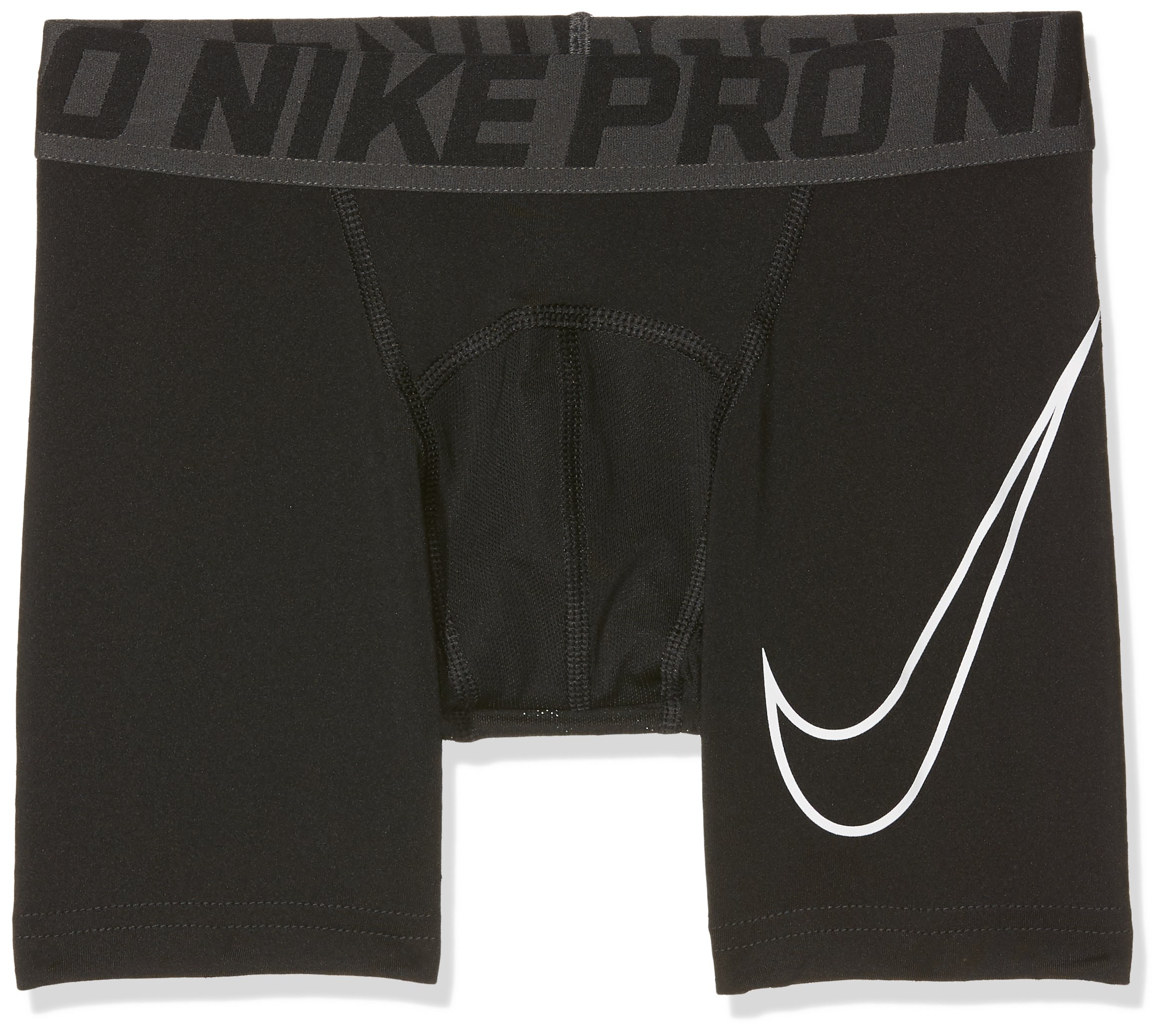 Nike Pro Big Kids' (Boys') Training Shorts,Black/White,Small (7-8 Big Kids) by Nike