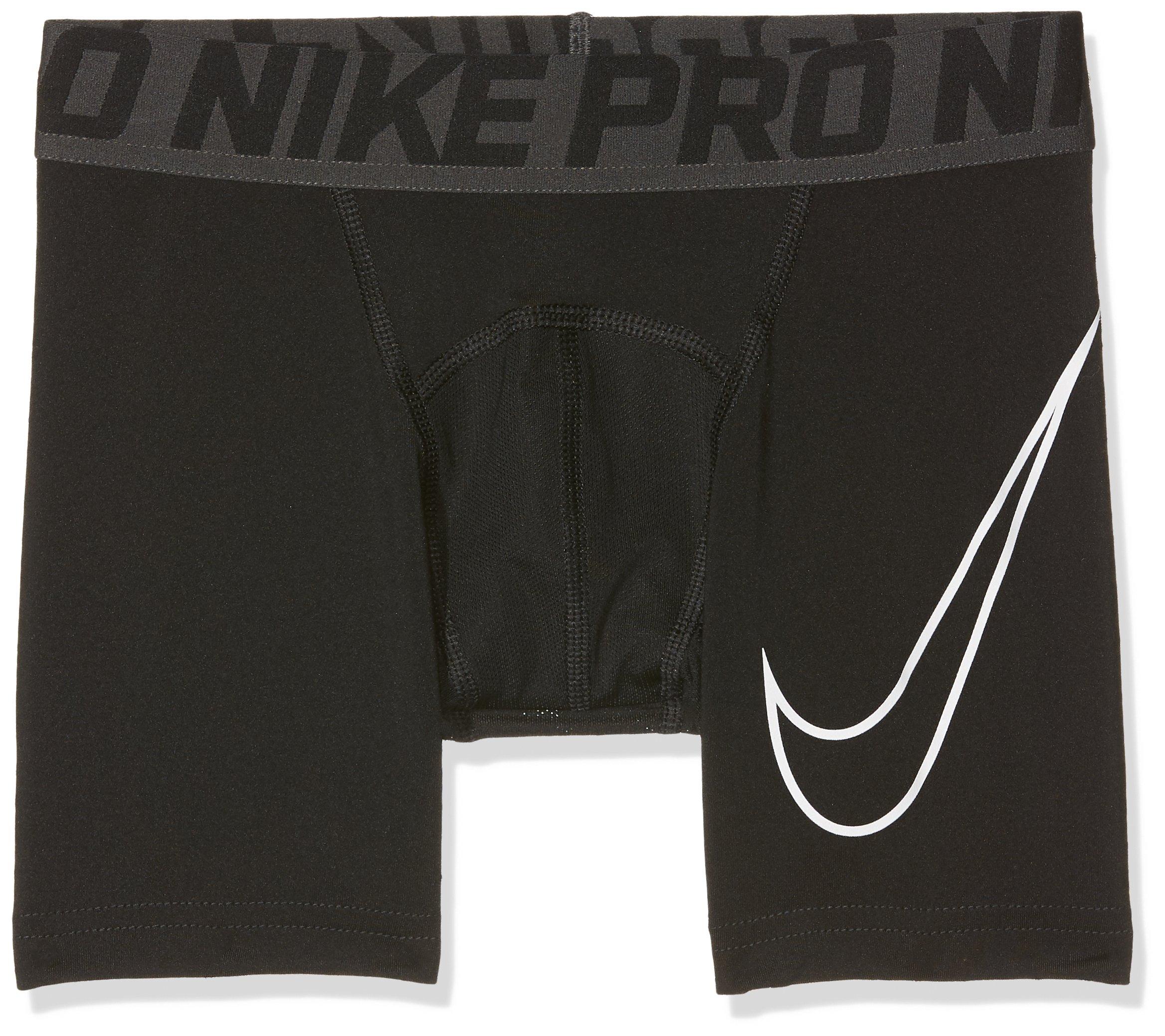Nike Pro Big Kids' (Boys') Training Shorts,Black/White,X-Small (6X Little Kids) by Nike