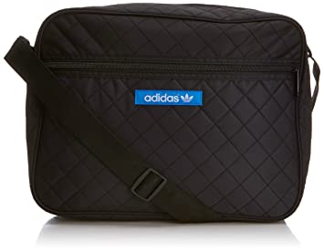 bf1d0f65213a adidas Airliner Nylon Bag - Black Bluebird