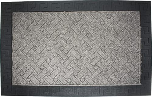 DII Durable Low Profile, Pet Friendly Indoor Outdoor Doormat for Home or Commercial Use, 24×36, Charcoal Utility Mat