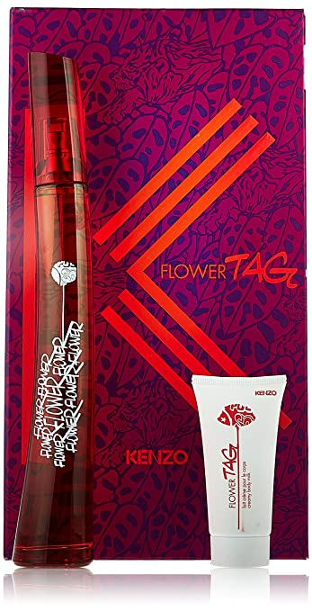12e49b678 Amazon.com : Kenzo Flower Tag 3 Piece Gift Set for Women (Eau de Toilette  Spray Plus After Shave Balm Plus Pouch) : Fragrance Sets : Beauty