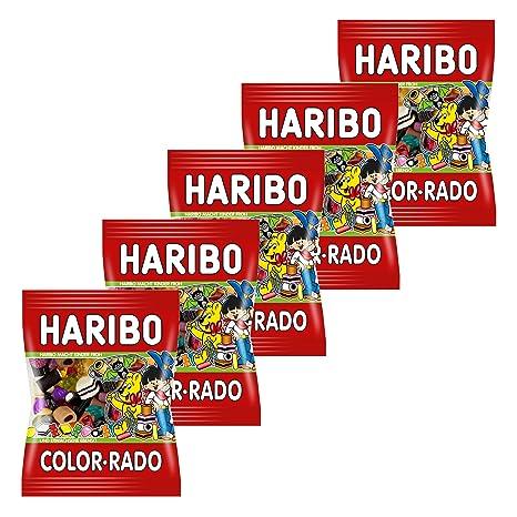Haribo Color Rado, Gominolas de Fruta, pasteles, 5 bolsas de ...