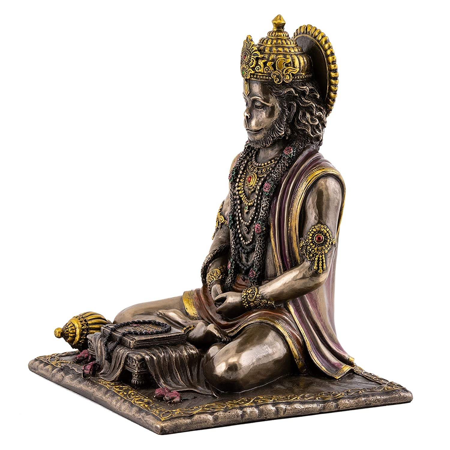 Top Collection Hanuman Statue – Hindu God of Strength Sculpture in Premium Cold Cast Bronze- 7.5-Inch Collectible Figurine