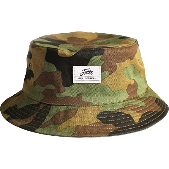 60e91ba44a9 Fortis Carp Fishing Bucket Hat (Large Extra Large) Reversible 100% Cotton  With Sunglasses Retainer  Amazon.co.uk  Sports   Outdoors