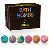 Bath Bombs Gift Set, 6 x 5 Oz Huge Bath Bombs Kit, Best for Aromatherapy, Relaxation, Moisturizing with Natural Essential Oil