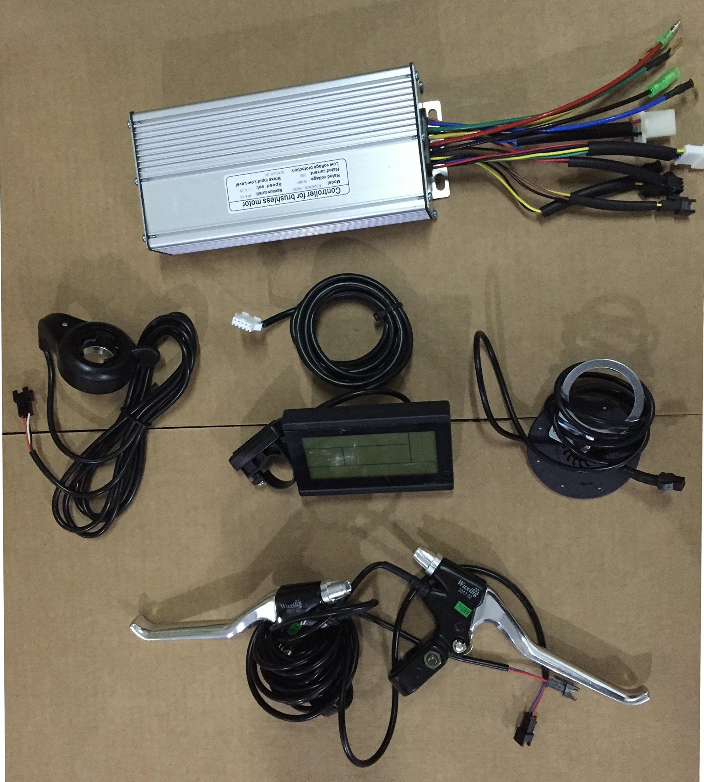 36V 48V 1500W Brushless DC Sine Wave Controller + 36V 48V LCD Control Panel + thumb throttle +Brake Lever+PAS Sensor