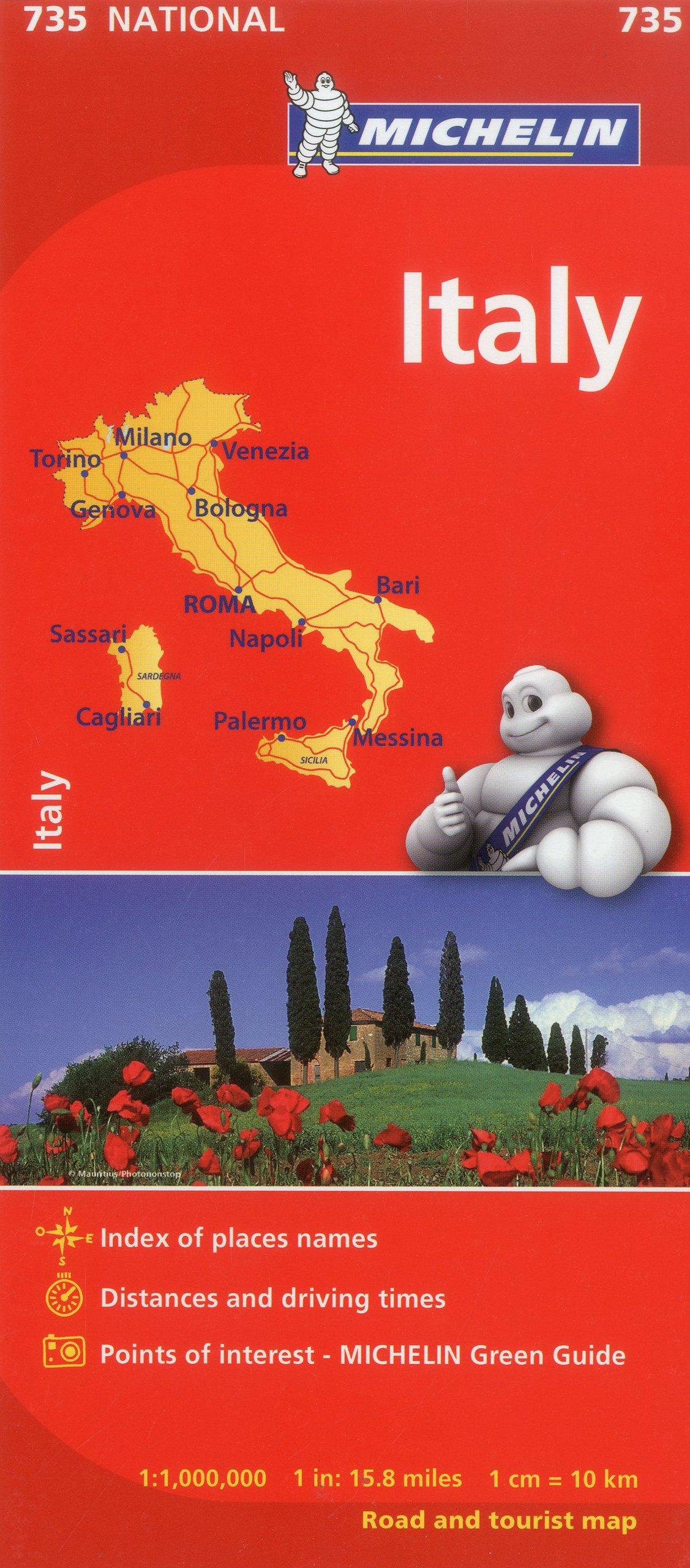 Map Of Italy In English.Michelin Italy Map 735 Maps Country Michelin Italian English