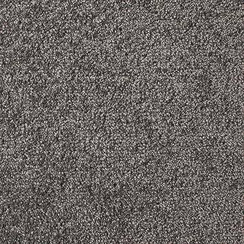 Gr/ö/ße: 50 x 50 cm Farbe: Grau 20 Fliesen = 5 m/² Teppichfliesen selbstliegend Velours Schatex Simply Soft 2724 Dunkelgrau