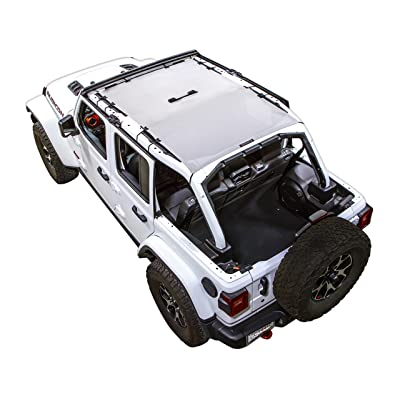 SPIDERWEBSHADE Jeep Wrangler JL Mesh Shade Top Sunshade UV Protection Accessory USA Made with 5 Year Warranty for Your JL 4-Door (2020 - current) in White: Automotive