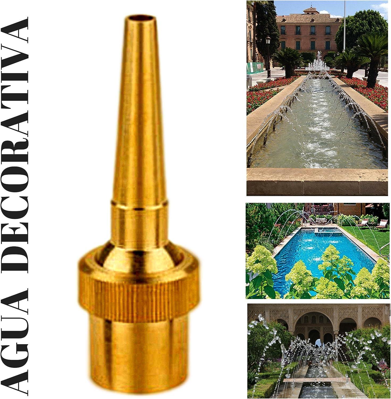 Agua Decorativa Boquillas para Fuentes de Jardín - Chorro de Lanza 1/2