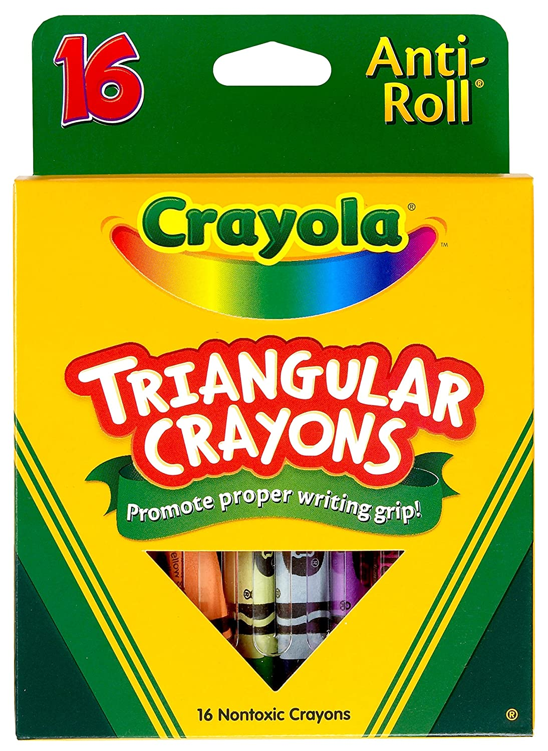 Crayola. 524016 Crayons triangulaires, assorti, 16/Box ToyCentre 52-4016
