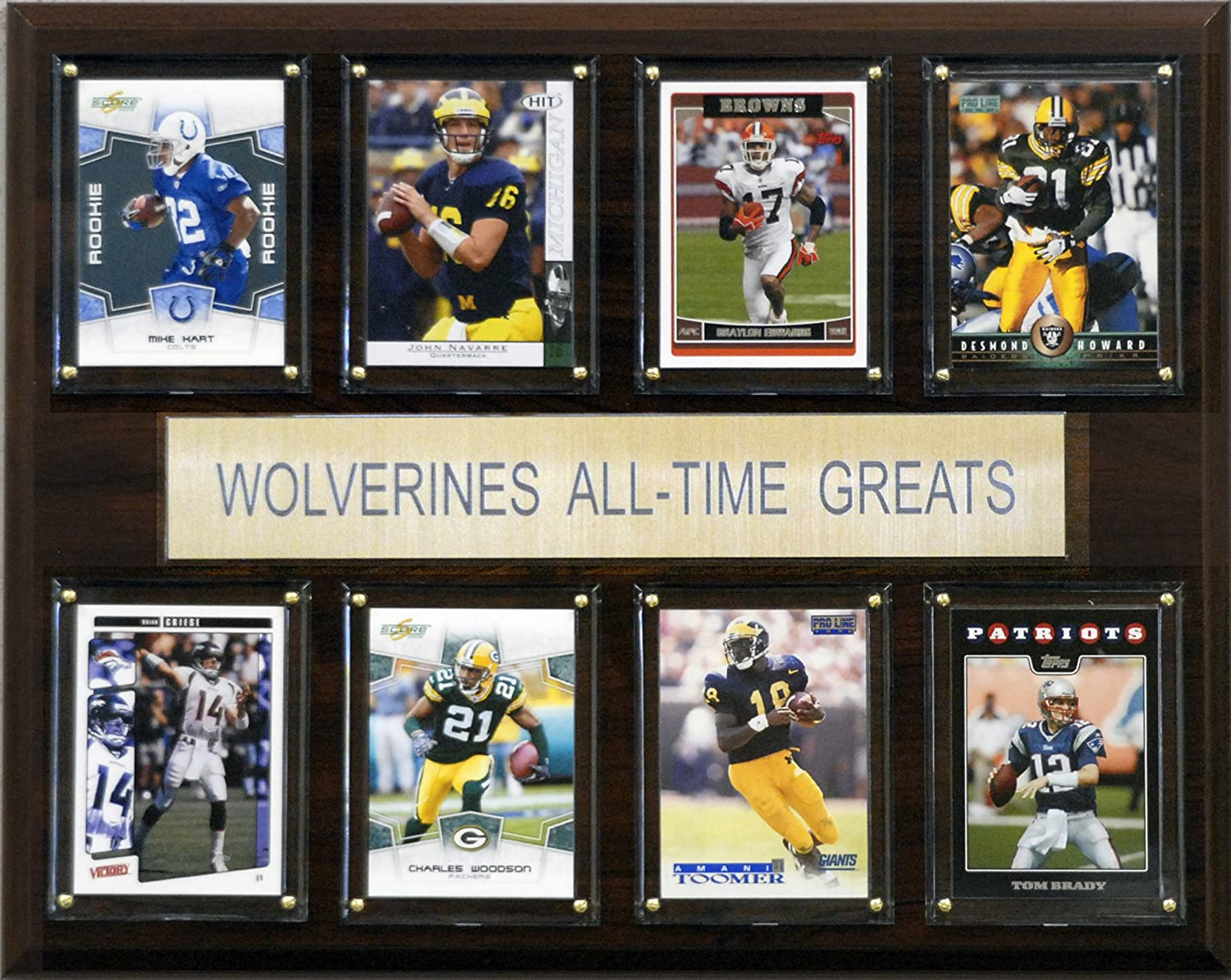 NCAA Football Michigan Wolverines All-Time Greats Plaque