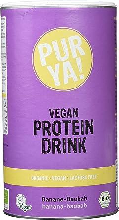 Purya Proteína Vegetal Bio en Polvo con Plátano Rojo y Baobab - 550 gr (4792)