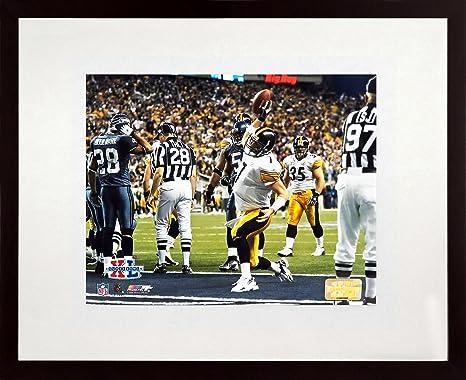 Pittsburgh Steelers Ben Roethlisberger SB XL TD 8x10 Photograph (SGA  UnderFifty Series) Framed fa94a2235