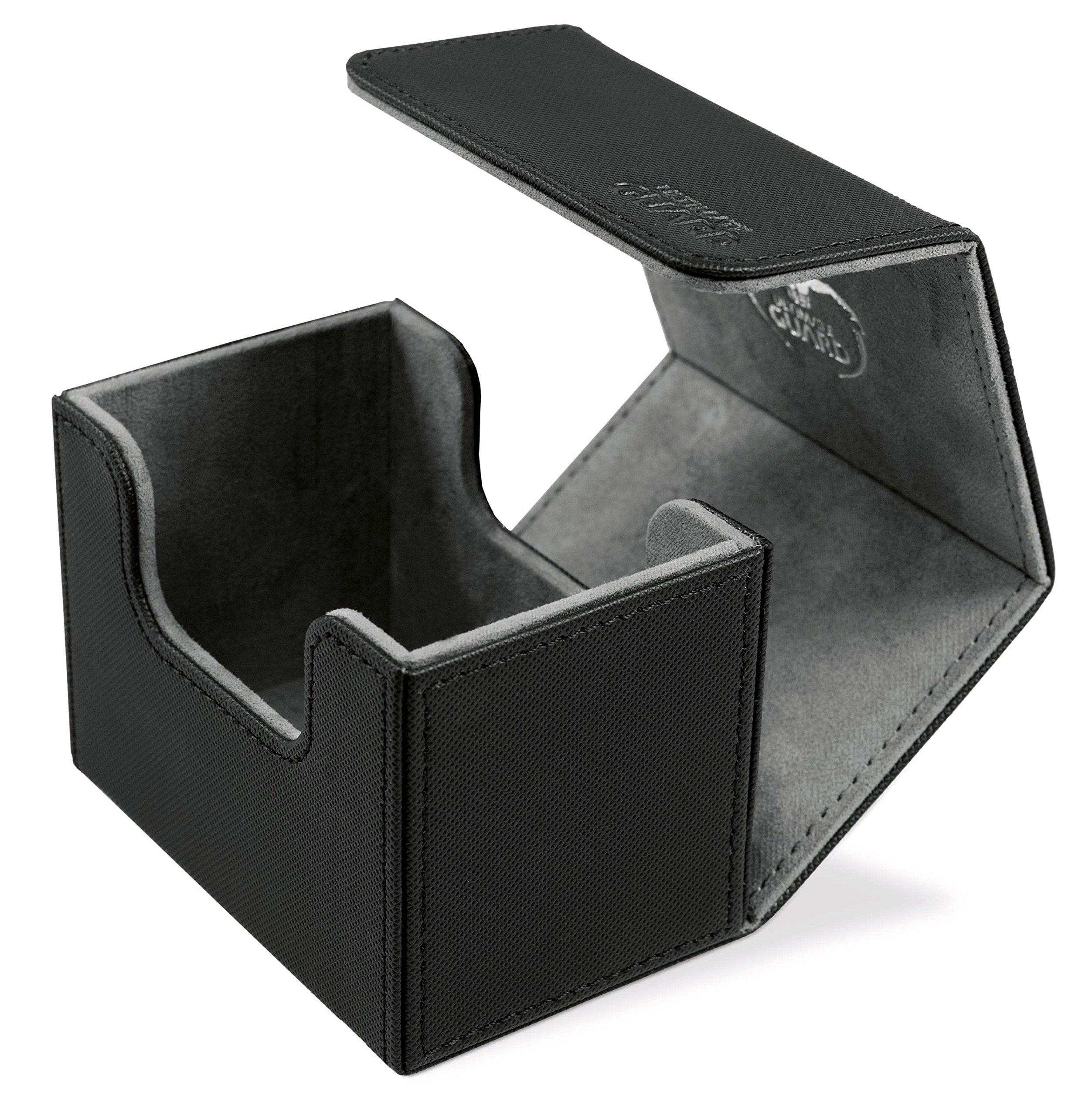 Ultimate Guard Sidewinder Deck Box 80+ XenoSkin Card Game, Black, Small