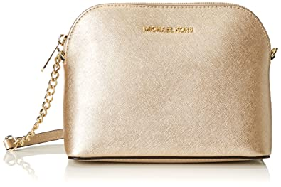 MICHAEL MICHAEL KORS Cindy Quilted Leather Crossbody (Bisque): Handbags:  Amazon.com