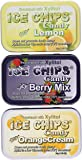 ICE Chips Fruity Variety Pack - SIX 50g (1.76 oz)Full-size Tins in Most Popular Flavors