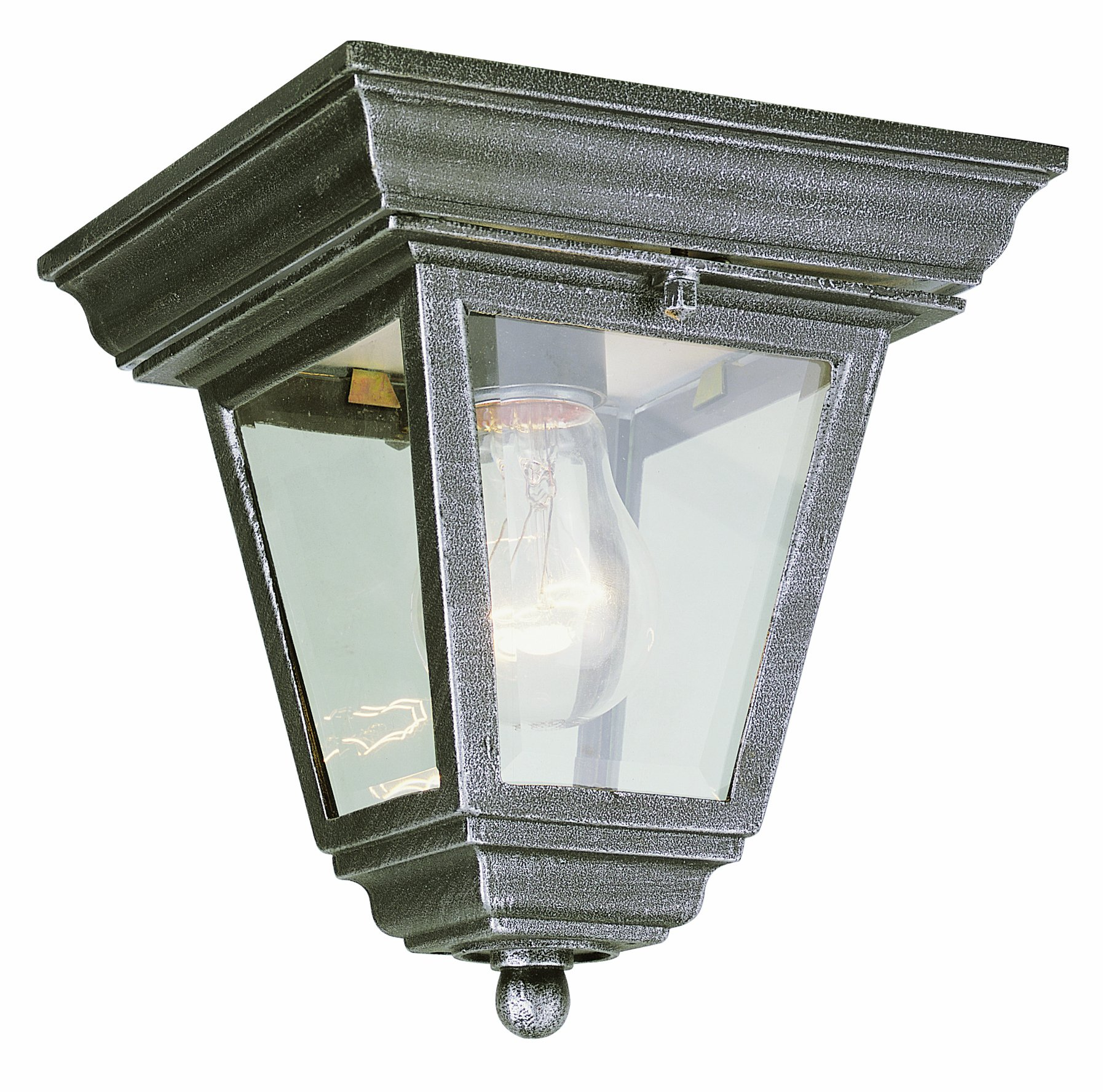 Trans Globe Lighting 4903 RT Outdoor Robertson 7.25'' Flushmount Lantern, Rust