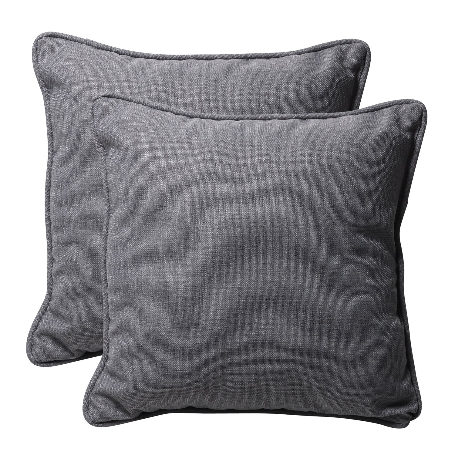 Amazon.com: Pillow Perfect Decorative Gray Textured Solid Square ...