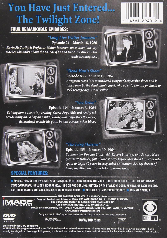 Amazon com: The Twilight Zone: Vol  23: Rod Serling, Robert