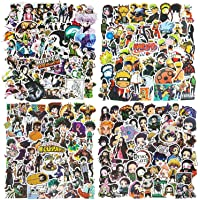 200 stuks Anime Stickers Naruto stickers, Hunter x Hunter, DemonSlayer, My Hero Academia (50 stuks per stijl…