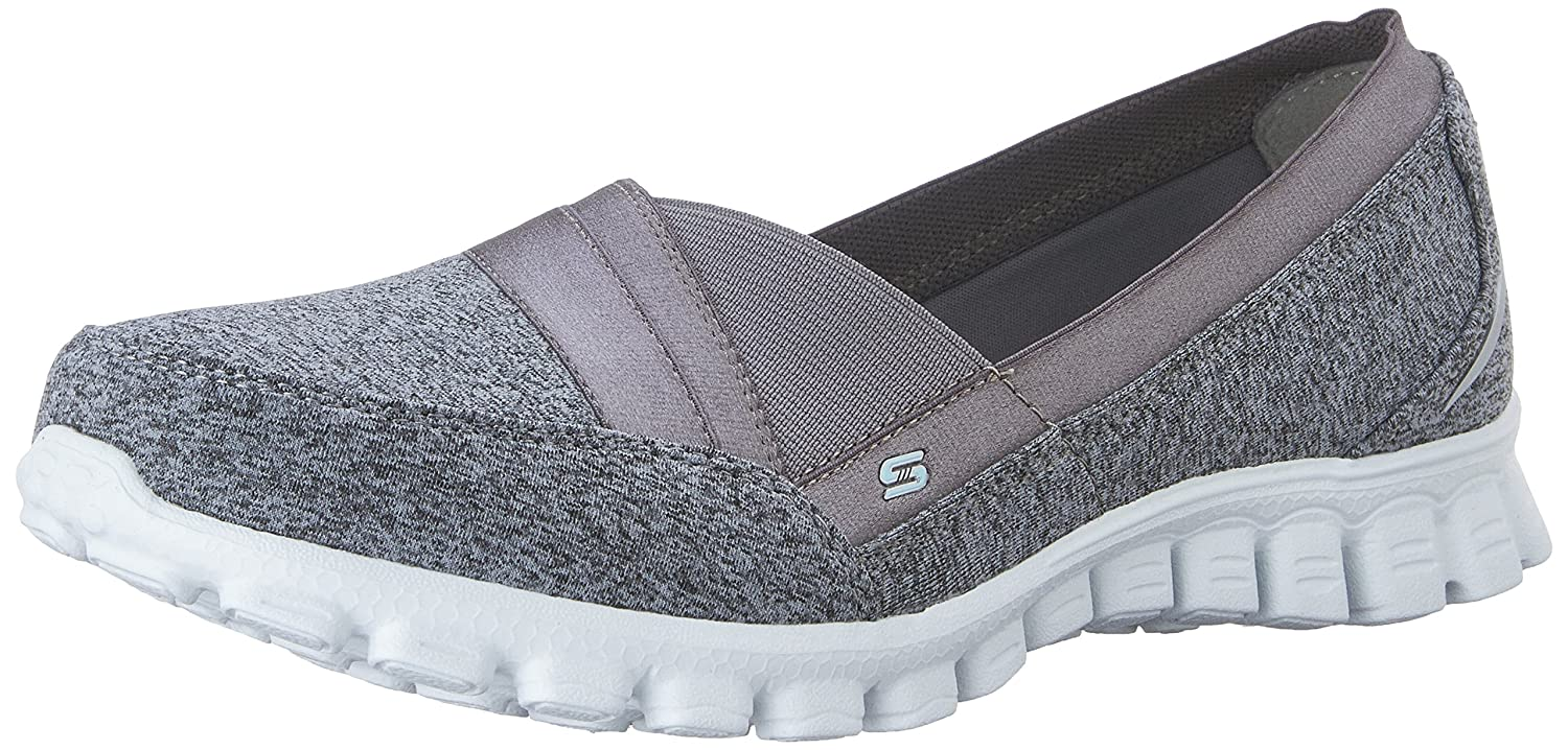 Skechers Damen Ez Flex 2 Fascination Geschlossene Ballerinas  40 EU|Grau