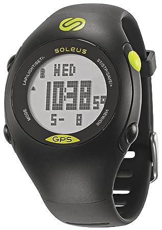 Soleus Mini GPS Fitness Uhr Reloj de Corredor con Monitor de Actividad física y de Salud, Unisex, Negro y Lima: Amazon.es: Deportes y aire libre