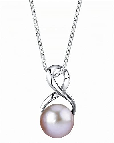 Amazon 9mm freshwater cultured pearl infinity pendant jewelry 9mm freshwater cultured pearl infinity pendant aloadofball Gallery
