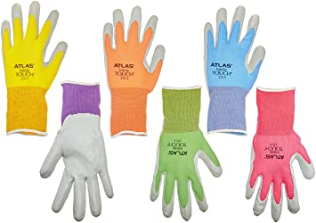 12 Pack Showa Atlas NT370 Atlas Nitrile Garden Gloves Small