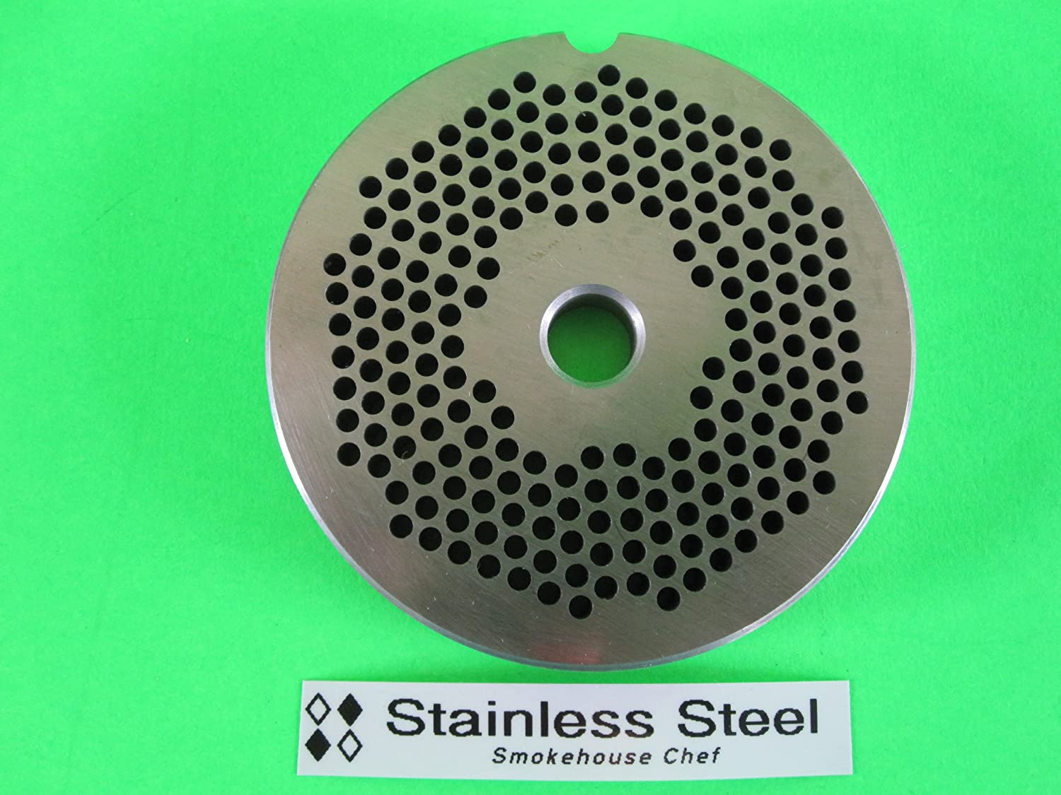 #22 x 1/8 STAINLESS STEEL Meat Grinder plate disc for Hobart LEM Cabelas Universal MTN & others Smokehouse Chef 22x3.0pl