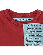 100 Etiquetas Termoadhesivas Personalizadas con Icono para marcar la ropa.