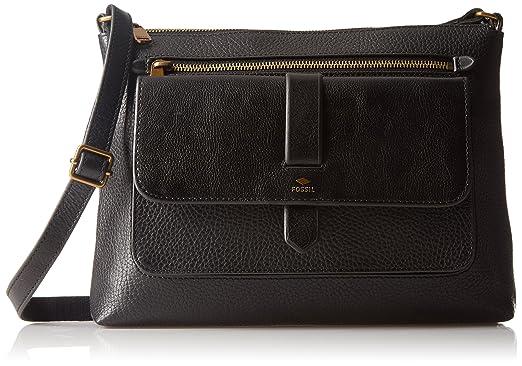 bf26f2f92 Fossil KINLEY CROSSBODY BAG, Black: Handbags: Amazon.com