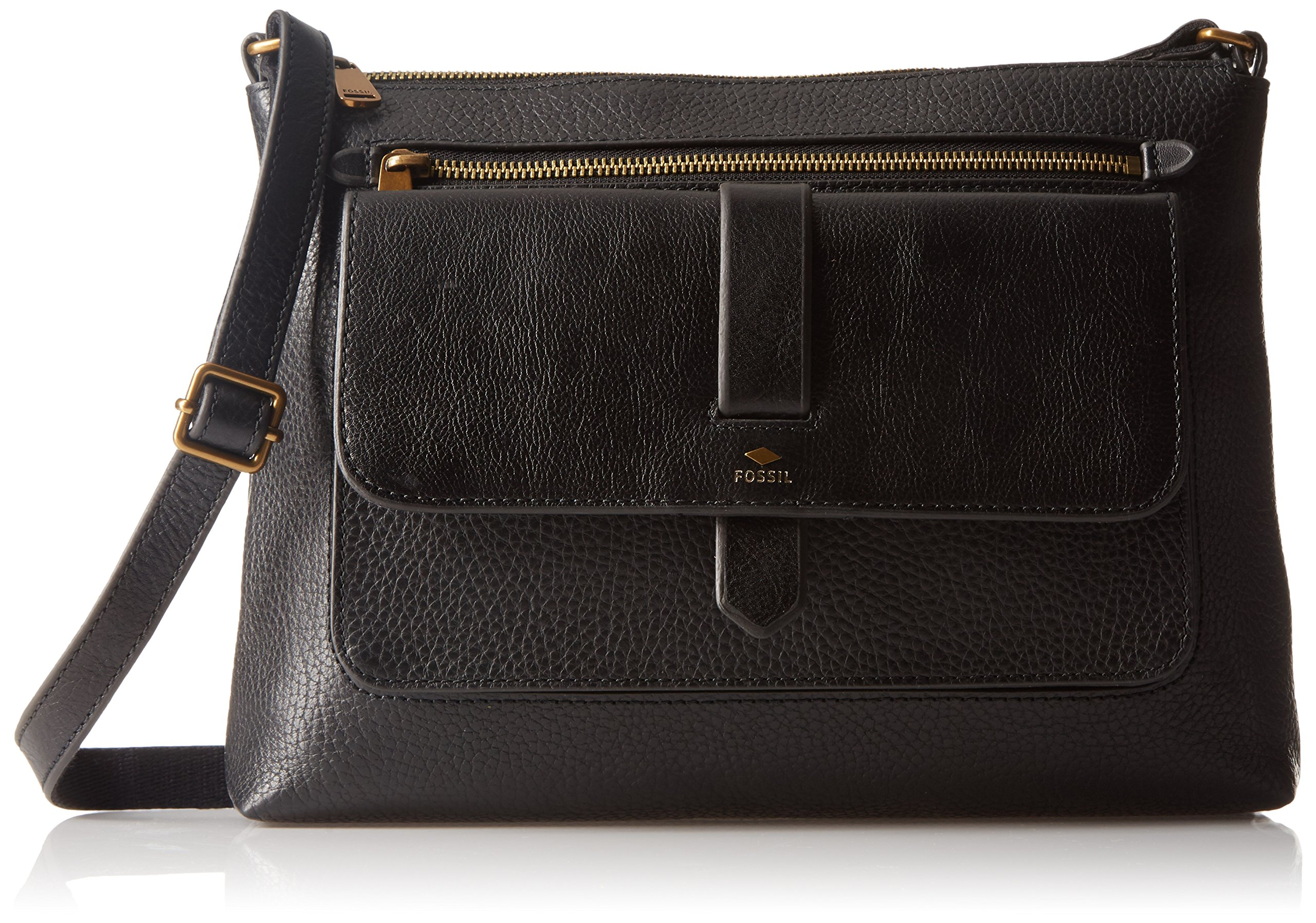Fossil Kinley Crossbody, Black, One Size