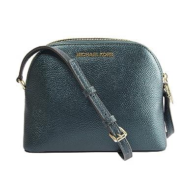 05825d1bf4e3 Michael Kors Adele Deep Teal Iridescent Leather Medium Dome Crossbody:  Handbags: Amazon.com