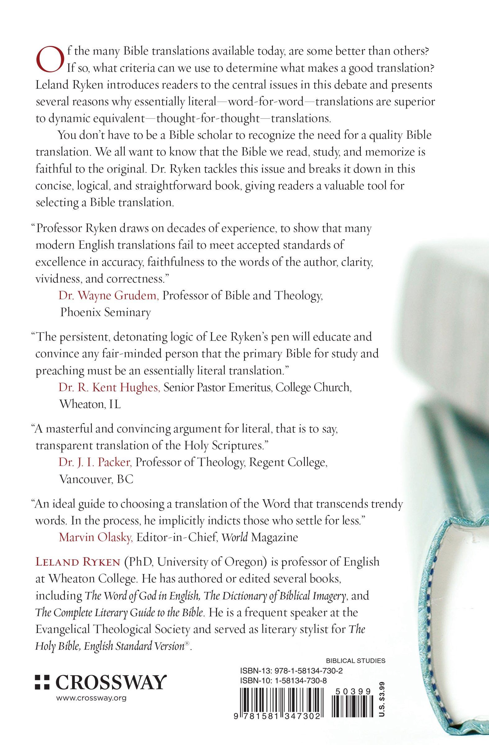 choosing a bible understanding bible translation differences choosing a bible understanding bible translation differences leland ryken 9781581347302 com books