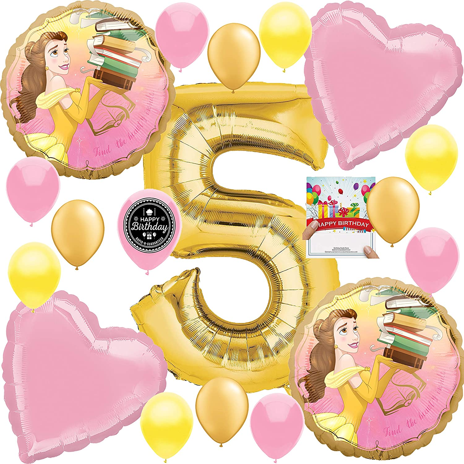 """Belle Beauty And The Beast 32/"""" Anagram Balloon Birthday Party Decorations"""