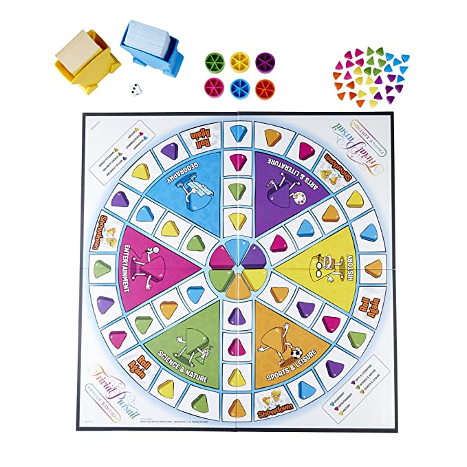 Amazon.com: Hasbro Gaming Trivial Pursuit Family Edition ...